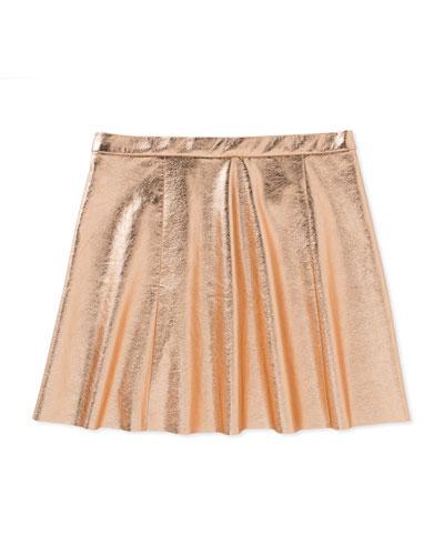 metallic skirt, rose gold, size 2-6