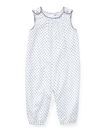 1b92585d6d0d Ralph Lauren Childrenswear Batiste Polka-Dot Jumpsuit