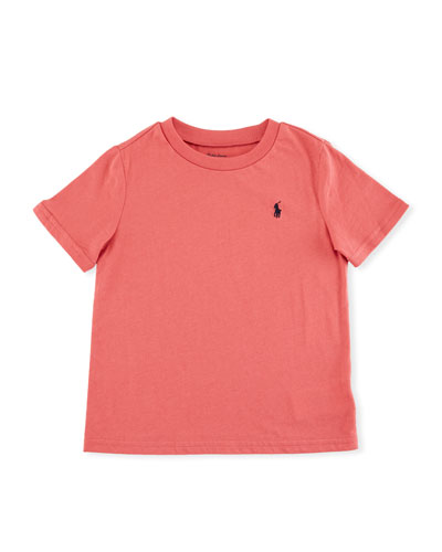 Short-Sleeve Jersey T-Shirt, Red, Size 9-24 Months