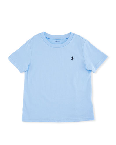 Short-Sleeve Jersey T-Shirt, Blue, Size 9-24 Months