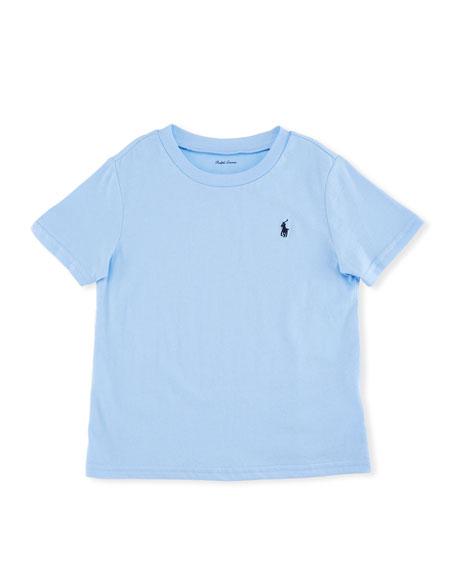 Short-Sleeve Jersey T-Shirt, Blue, Size 9-24 Months
