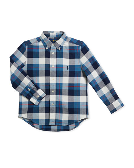 Washed Oxford Button-Down Shirt, Size 5-7