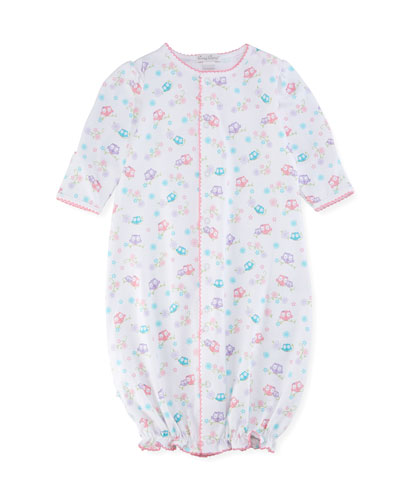 What A Hoot Convertible Pima Sleep Gown, Size Newborn-Small