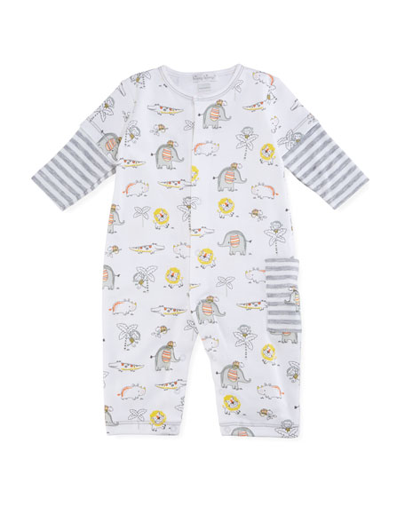 Jungle Jamboree Printed Pima Coverall, Size 0-18 Months