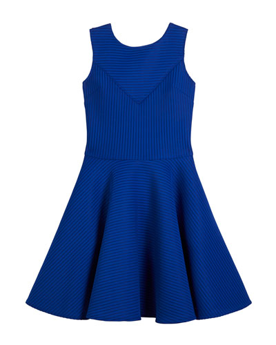 Sleeveless Pinstripe Dress, Size 8-16