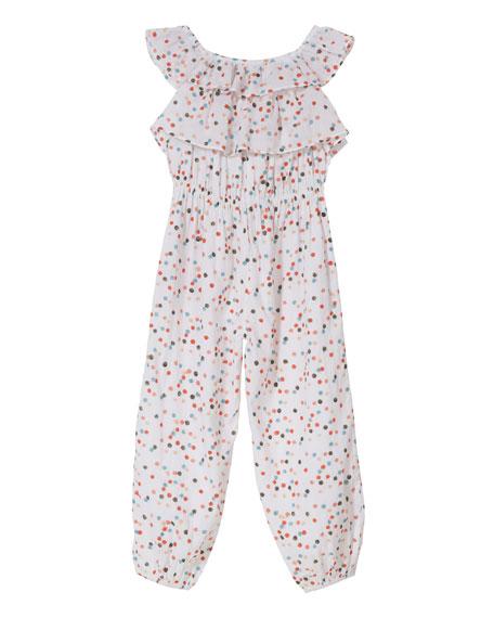 Layered Ruffle Frill Jumpsuit, Size 2-6