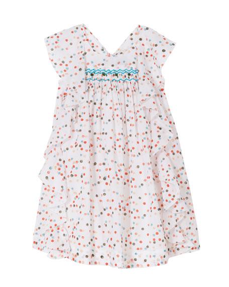 Butterfly-Back Frill Dress, Size 2-6