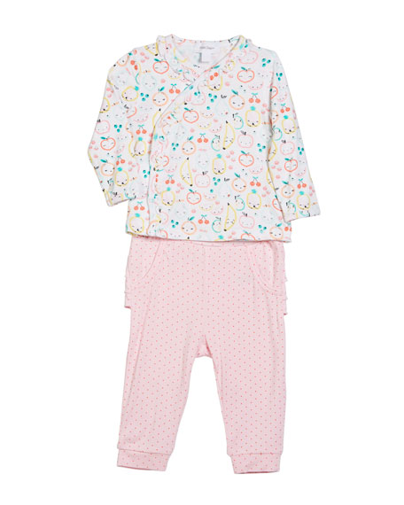 Angel Dear Fruit Ruffle-Trim Two-Piece Set, Size 0-12