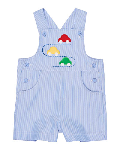 Striped Car Overalls, Size 3-24 Months