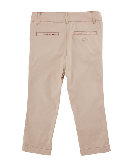 Twill Straight-Leg Pants, Size 3-24 Months
