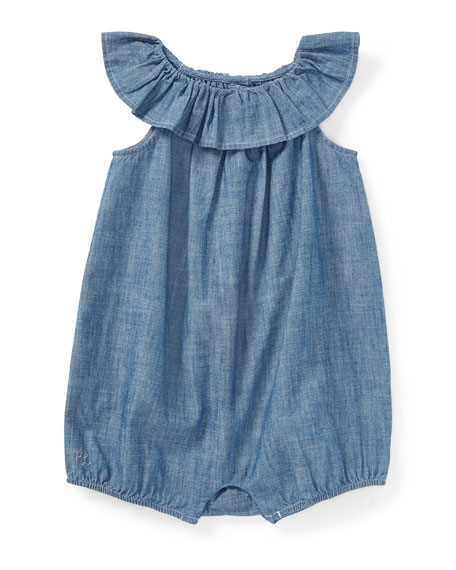 Chambray Bubble Shortall, Size 3-18 Months