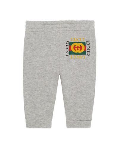 Jersey Jogger Pants w/ Vintage Logo, Size 3-36 Months