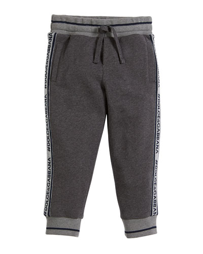 Logo-Tape Sweatpants, Boys' Size 8-12