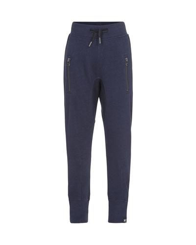 Ashton Drawstring Sweatpants w/ Zip Pockets, Size 4-12