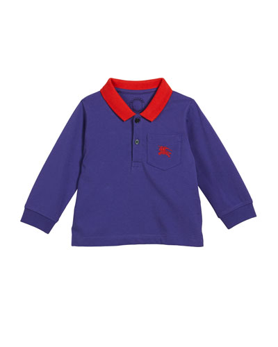Lael Colorblock Polo Shirt, Size 12M-3