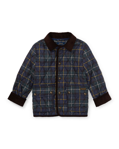 Kempton Quilted Plaid Jacket, Size 2-4