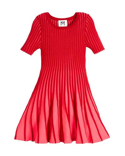 Contrast Godet Flare Dress, Size 8-14