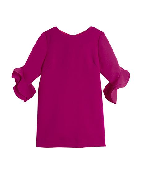 Angle Fernanda Ruffle-Sleeve Dress, Size 8-16