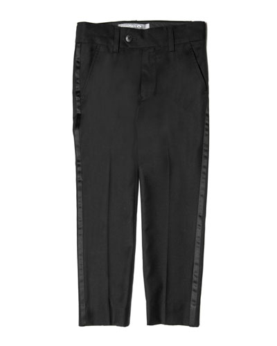 Satin-Trim Tuxedo Pants  Size 4-16