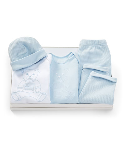 Four-Piece Layette Set, Size 3-12 Months