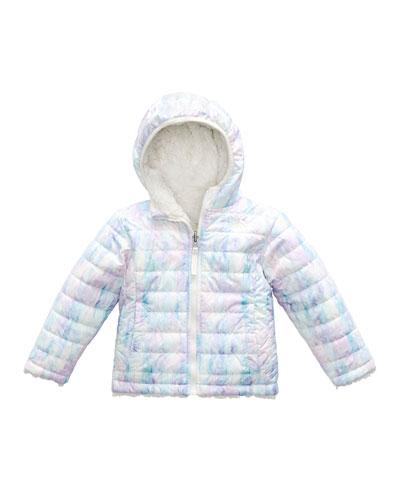 Reversible Mossbud Swirl Hooded Jacket, Size 2-4T