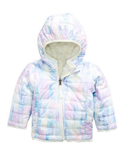 Reversible Mossbud Swirl Hooded Jacket, Size 6-24 Months