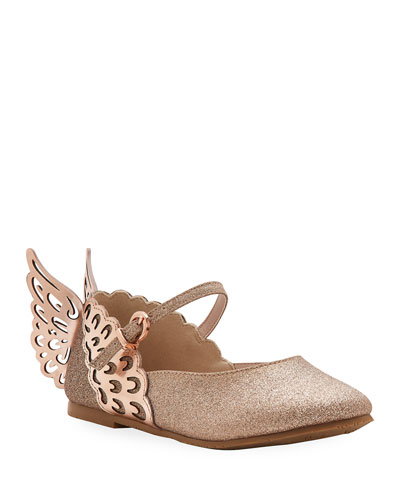 Evangeline Glittered Butterfly-Wing Flats  Toddler/Kids