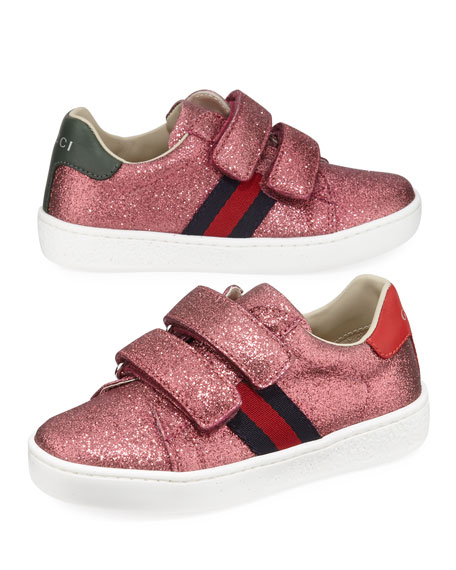 New Ace Web-Trim Glittered Sneakers, Baby/Toddler