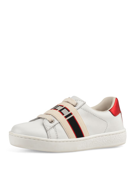 7ca44844f20 Gucci New Ace Gucci Band Leather Sneaker