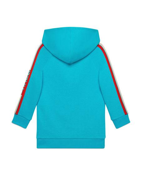 Logo-Sleeves Hooded Sweatshirt Dress, Size 4-12