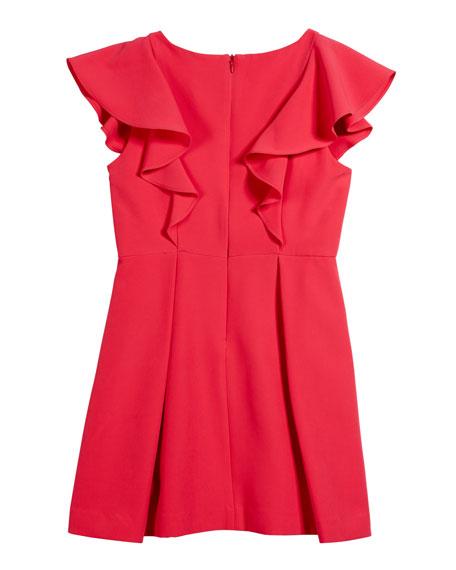 Italian Cady Ruffle Dress, Size 4-6