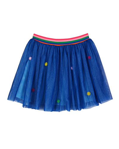 Pompom Mesh Skirt  Size 4-6
