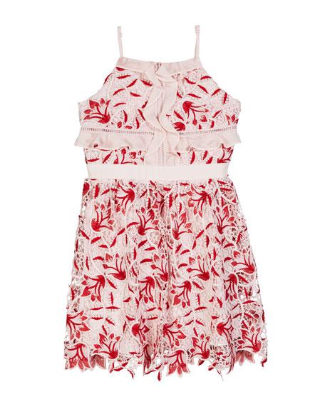 ca6b75b5763b Bardot Junior Milly Lace Ruffle Sleeveless Dress, Size 8-16