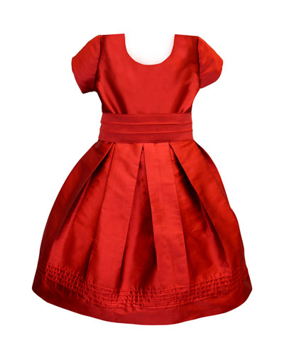 Pintucked Taffeta Dress  Size 4-6