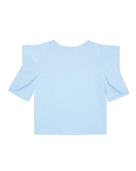 Megan Puff-Sleeve Cotton Top, Size 7-14