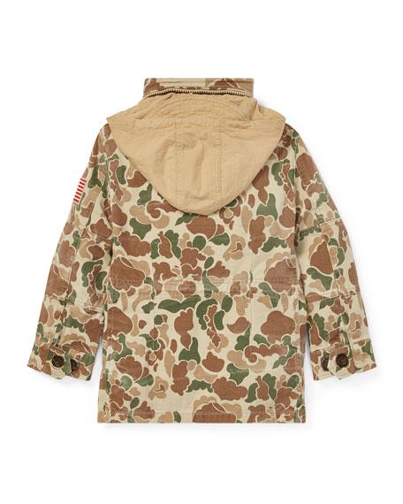 Battle Camo-Print Jacket, Size 5-7