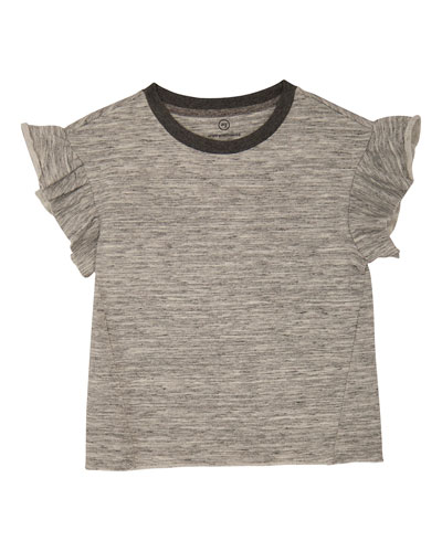 Mona Ruffle-Sleeve Knit Top  Size S-L