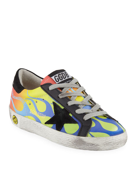 Superstar Leather Flames Low-Top Sneakers, Baby/Toddler