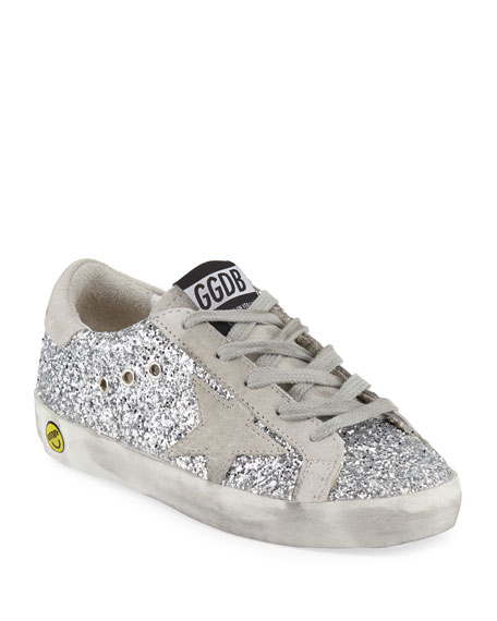 Superstar Glittered Low-Top Sneakers, Baby/Toddler