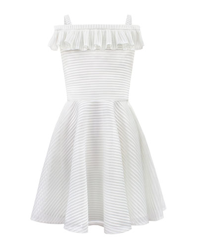 3c7eed94369fe6 Stripe Techno Off-the-Shoulder Dress Size 8-16 Quick Look. David Charles
