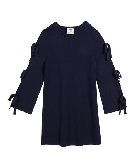 Tie-Sleeve Knit Shift Dress, Size 2T-6