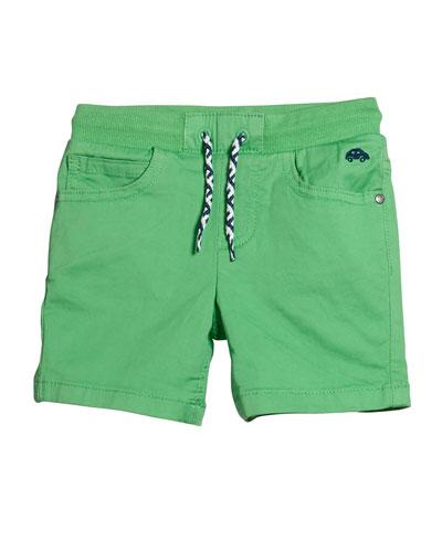 Boys' Drawstring Twill Shorts  Size 12-36 Months