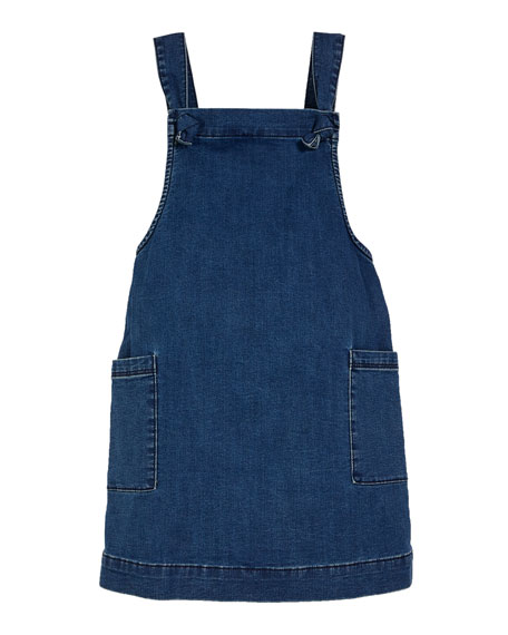 Girls' Joslyn Sleeveless Denim Dress, Size 4-6X