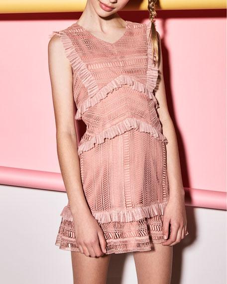 Kristen Lace V-Neck Dress, Size 8-16