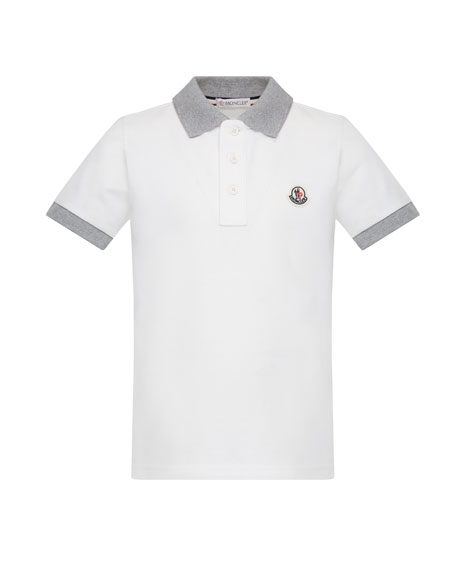 Contrast Trim Short-Sleeve Polo Shirt, Size 4-6