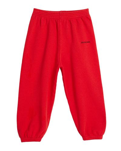 Cotton Logo Jogging Pants  Size 2-10
