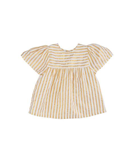 Asha Metallic Stripe Top, Size 8-12