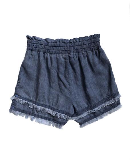 Fray Hem Flowy Shorts, Size 8-14
