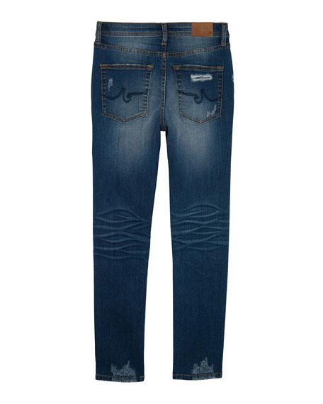 Boys' Kingston Skinny Slim Distressed Denim Jeans, Size 4-7