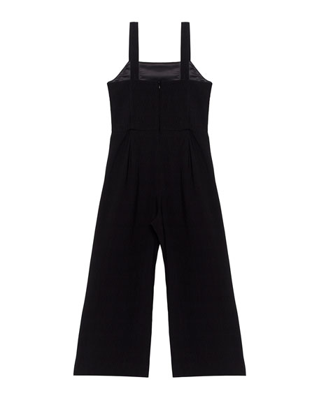 Carissa Ruffle-Trim Sleeveless Jumpsuit, Size 8-16